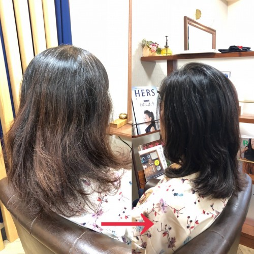 絡まる、もつれる、ごわつく、まとまらない、広がる髪のお悩み解決!福岡市南区大橋の髪の悩み改善美容室ニュートリノ