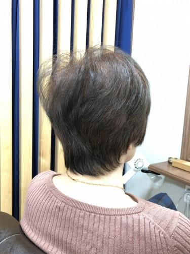 常連のお客様ショートカット!カットは奥が深いな〜としみじみ。。福岡市南区大橋のカットが上手な美容室ニュートリノ