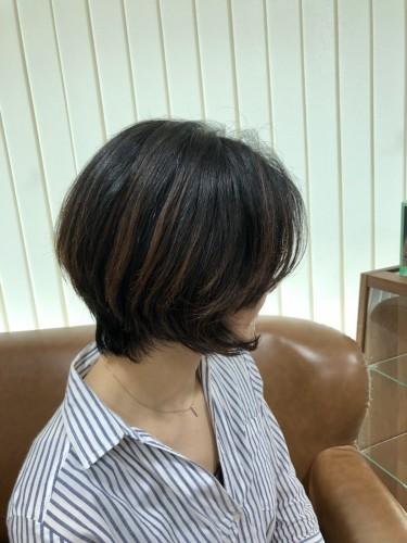 こんなにおしゃれなショートヘアにしてもらったのは初めて♩福岡市南区大橋のカットが上手な美容室ニュートリノ