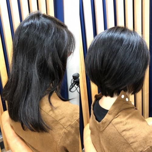 3時間半かけて大変身カット!頭痛がするほどの髪を大胆カット!福岡市南区大橋のカットが上手な美容室ニュートリノ